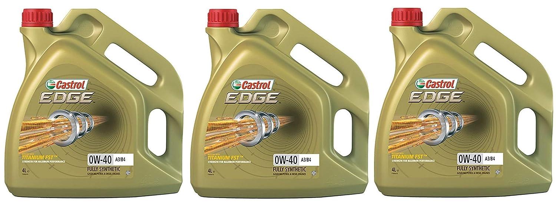 Castrol Edge Titanio 0W-40 A3/B4 FST Aceite sintético para Motor, 12 ...