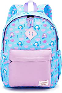 Preschool Backpack Toddler Kindergarten School Backpacks for Boys and Girls with Chest Strap, Mermaid
