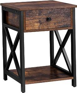 Rustic End Tables - Brown Nightstands