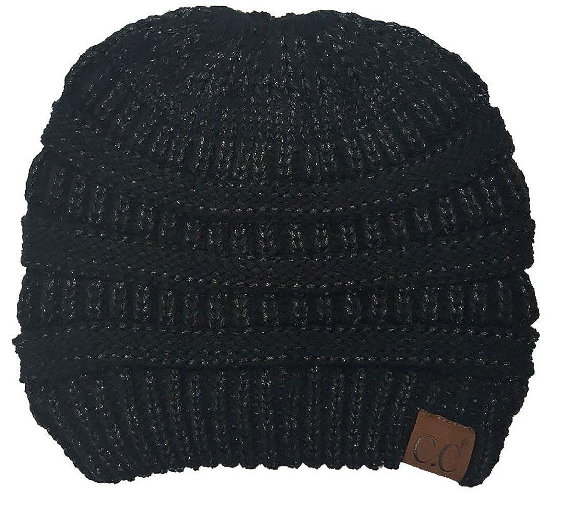 0575dc428a9a6 BT-6020a-2-0660 Solid Messy Bun Beanie Tail Bundle - 1 Black