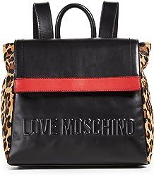 Moschino Womens Love Moschino Stripe Backpack
