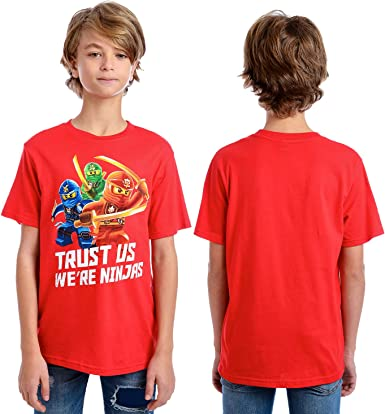 Boys cotton rich red long sleeve t-shirt top graphic print age 2 3 4 5 6 7 and 8