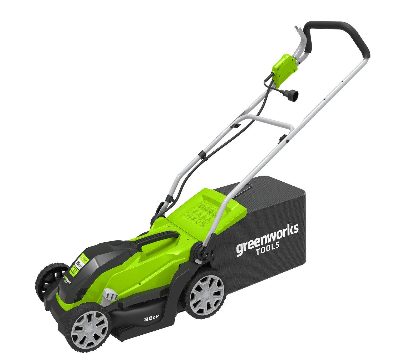 Greenworks Cortacésped eléctrico de 1000 W GLM1035 35 cm - 2505107 ...