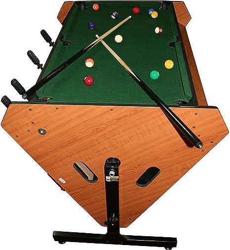 Marca giratorio juego de mesa 3 en 1 (billar, Air hockey, y futbolín): Amazon.es: Deportes y aire libre