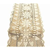 Laivigo Handmade Crochet Lace Table Cloth Doilies Doily,Rectangle,24-51 Inch