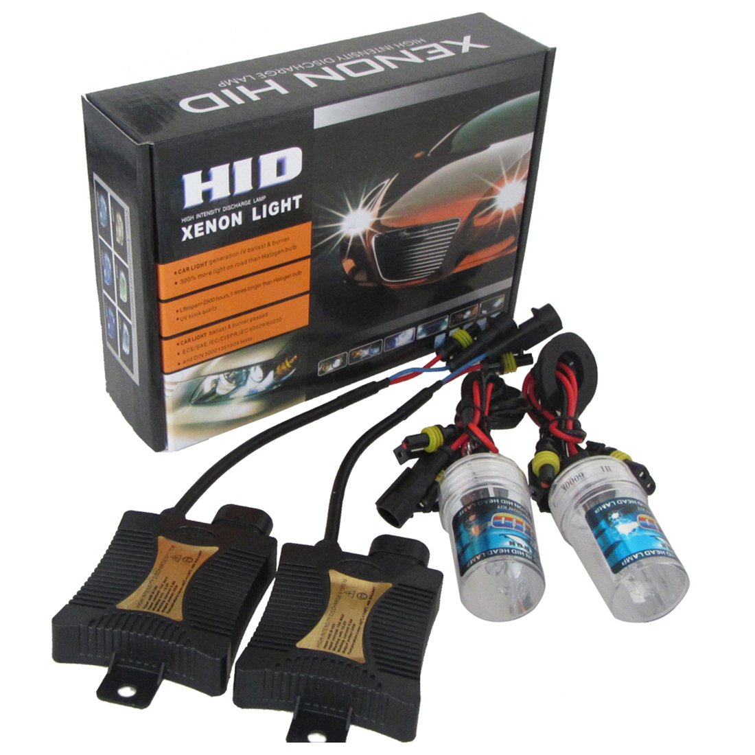 Iycorish Super 55W Slim Xenon HID KIT H1 6000K