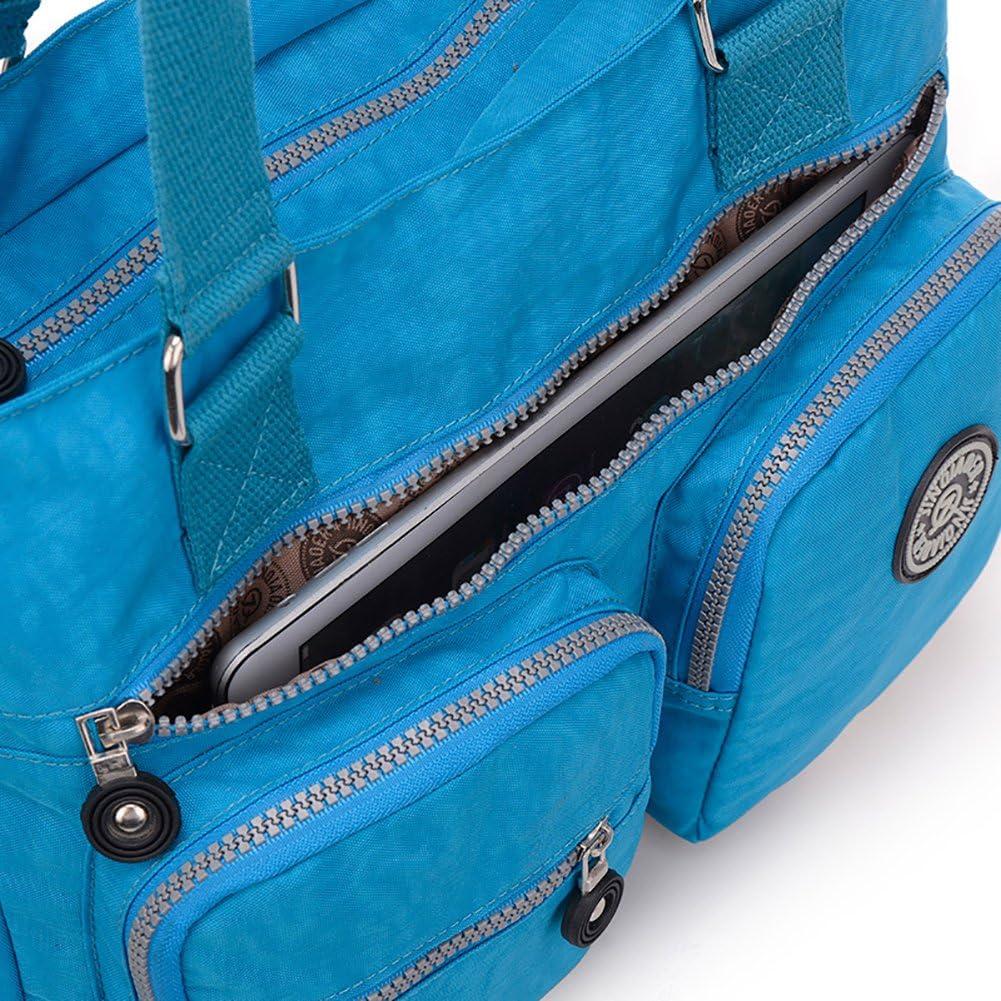 Fancybox Sac fourre-tout multifonction en nylon r/ésistant /à leau pour femme