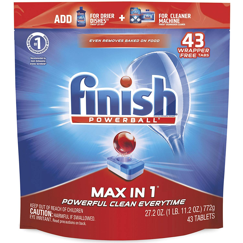Amazon.com: Finish – Max en 1 – 43 ct – Detergente para ...