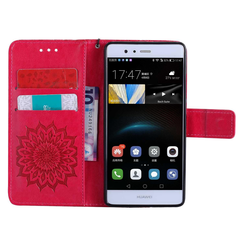 Bear Village/® Leder PU Cover Magnet Filp Brieftasche Schutzh/ülle mit Kostenlos Schutzfilm aus Geh/ärtetem Glas f/ür Huawei P9 #1 Gr/ün Huawei P9 H/ülle