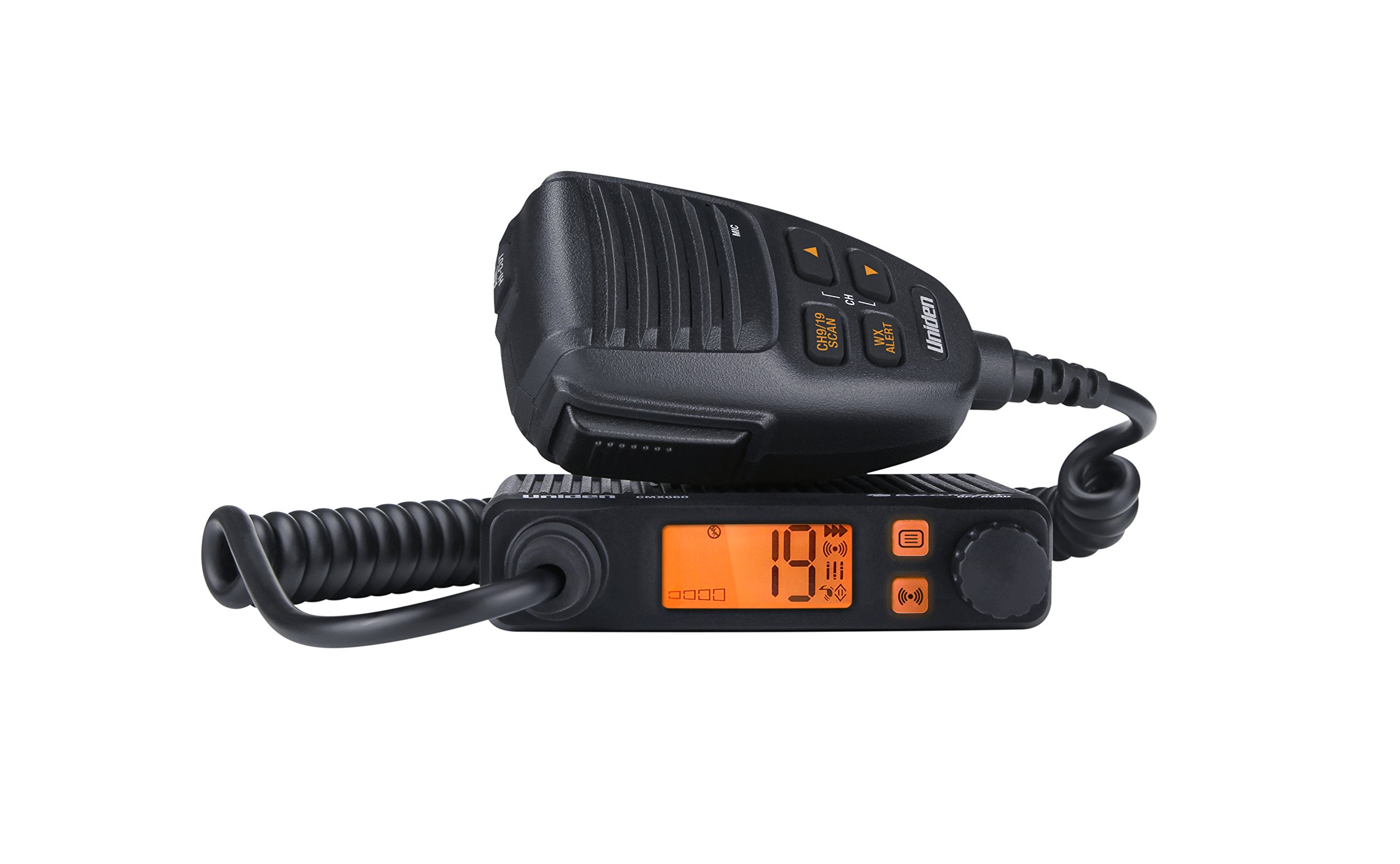 Uniden CMX660 Bearcat Off Road Series Compact Mobile CB Radio, 40-Channel Operation, Ultra-Compact for Easy Mounting, NOAA Weather with Alert, Easy-access Mic controls - Black Color