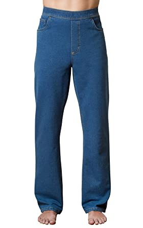 288f633571 PajamaJeans Men s Straight Leg Knit Denim Jeans at Amazon Men s ...