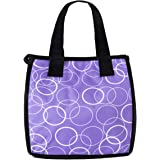 Artecobags Insulated Lunch Bag - Purple with White Circles