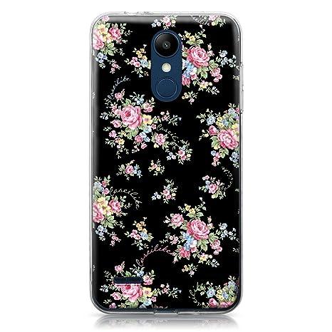 CASEiLIKE® Funda LG K8 2018, Carcasa LG K8 2018, Floral Rosa clásico 2261, TPU Gel Silicone Protectora Cover