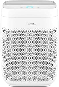 Zigma Smart WiFi Air Purifier for Home, True HEPA 5-in-1 Air Purifiers w/Voice Control for Dust, Pollen, Pets Hair, Odor, Smoke, Air Cleaners for Living Room, Office White Aerio-300 FILTER Included