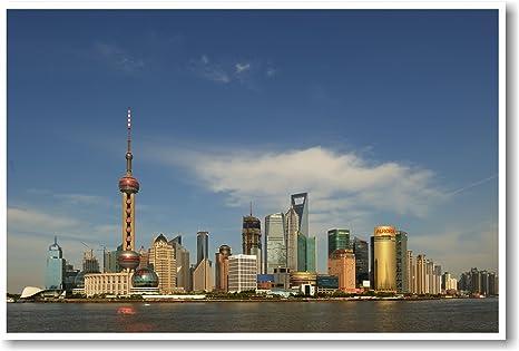 Amazon.com: Shanghai Pudong skyline China – Nuevo Mundo ...