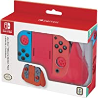 Nintendo Switch Joy-Con Action Grip and Thumb Grips - Neon Red Textured Silicone