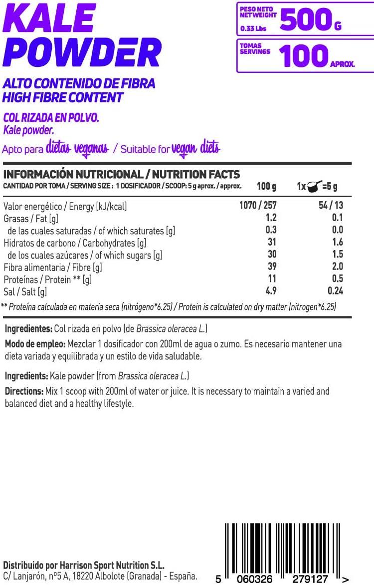 Kale en Polvo de HSN Essentials | 100% Natural | Fuente de Hierro ...