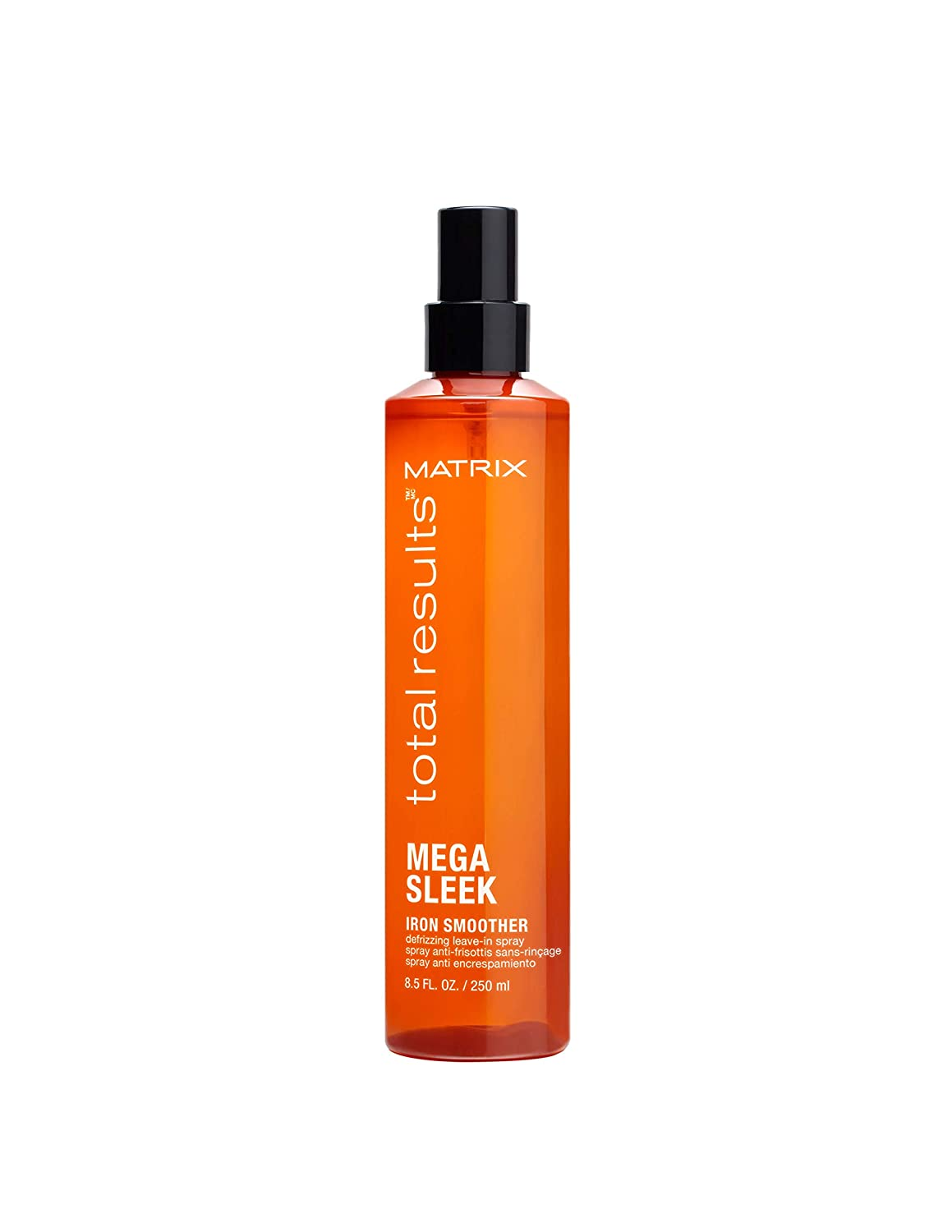 MATRIX Total Results Mega Sleek Iron Smoother Defrizzing Leave-In Spray |Protects Against Heat Damage Leaving Hair Smooth & Frizz-Free | For All Hair Types | 8.5 Fl. Oz.