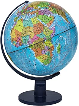 Amazon Com Waypoint Geographic World Globe For Kids Scout 12 Desk Classroom Decorative Globe With Stand More Than 4000 Names Places Current World Globe Toys Games