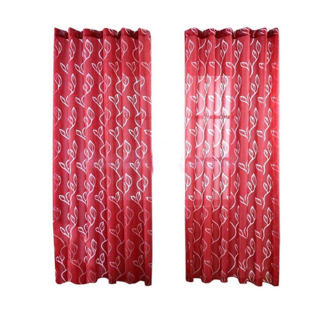 Originaltree - Bubble Leaf, tenda semitrasparente per soggiorno, camera da letto - Accessorio per la casa, dimensioni 100x 270cm, Nero , taglia unica