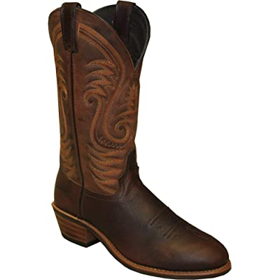 ABETTA Abilene, Mens Distressed Brown Round Steel Toe Western Boot 2108, | Western