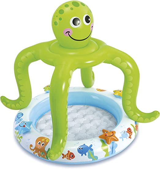 Intex 57115 Piscina hinchable pulpo, 45 litros, Multicolor, 1.02 x ...