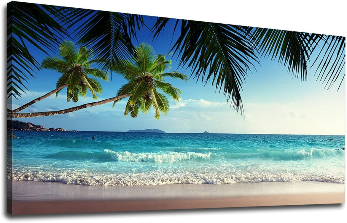 Happy Place Beach Paintings HD Print on Canvas Home Decor Wall Art Picture