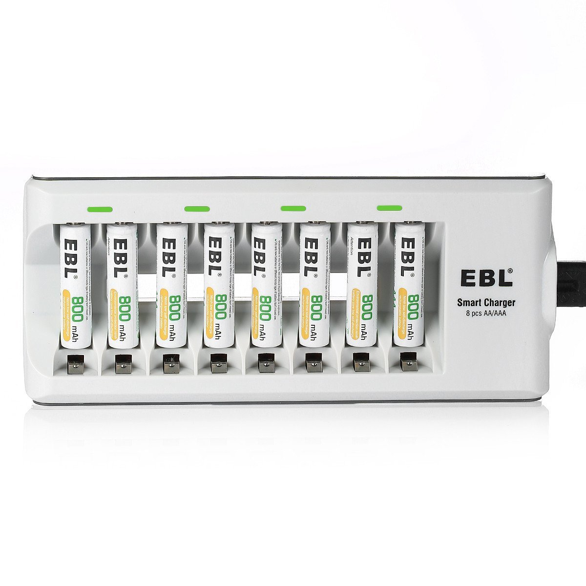 Ebl 808 Latest Version Rapid 8 Bay Smart Aa Aaa Nimh Battery Charger Circuit D Mohankumar Chargers With 8pcs 800mah Ni Mh Rechargeable Batteries Electronics