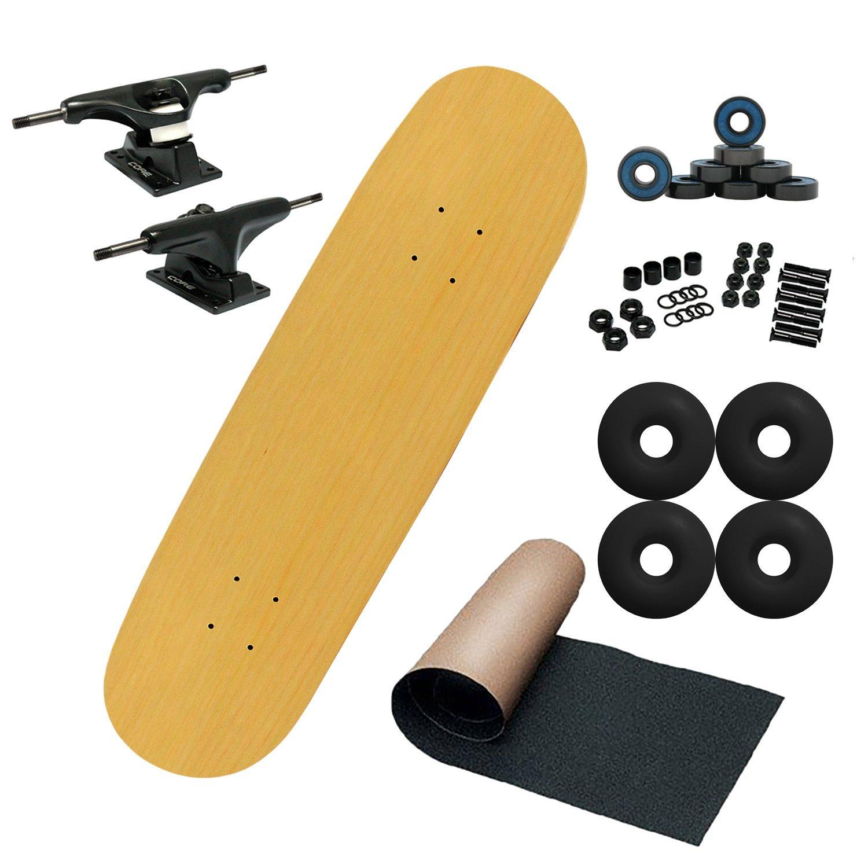 Moose Mid Complete Unassembled Skateboard, Natural, 7.75''