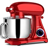 COOKLEE Stand Mixer, 800W 8.5-Qt. Kitchen Mixer 10+1 Speeds with Dishwasher-Safe Dough Hooks, Flat Beaters, Whisk & Pouring S