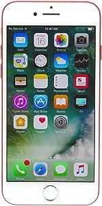 Apple iPhone 7, 128GB, Red - Fully Unlocked (Renewed)
