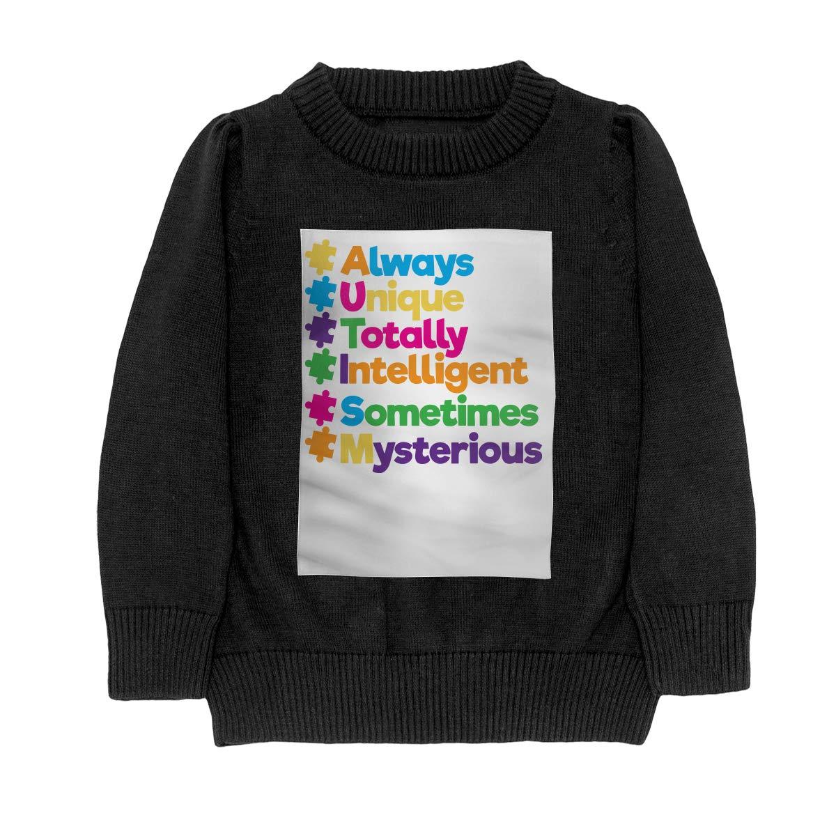 Always Unique Totally Intelligent Autism Style Teenager Boys Girls Unisex Sweater Keep Warm