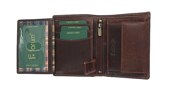 Florentino WINDSOR colección cuero Bi Fold Wallet 7058 marrón: Amazon.es: Equipaje