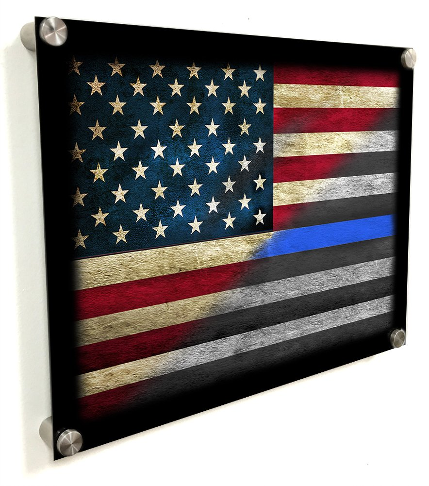 Amazon.com: Aluminum Thin Blue Line American Flag Art Design Wall Decor:  Home U0026 Kitchen Part 40
