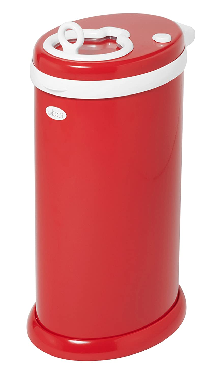 Ubbi Steel Diaper Pail, Red Pearhead Inc. 10012