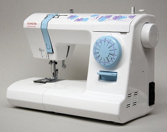 Toyota ECO15CB - Máquina de coser, 65 W, 15 programas, color blanco y azul: Amazon.es: Hogar