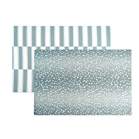Baby Play Mat | One-Piece Reversible Foam Floor Mat | Large | Eco-Friendly | Extra Soft | Non-Toxic | Baby | Toddlers | Kids (Blue Antelope + Stripe, Large)