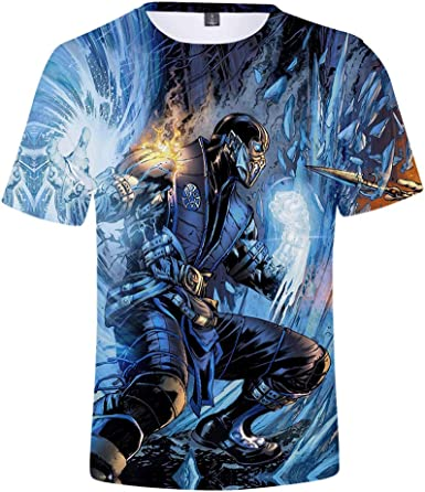 Mortal Kombat Camiseta Nueva Camiseta de Manga Corta de algodón Caliente Camiseta de Manga Corta clásica Unisex