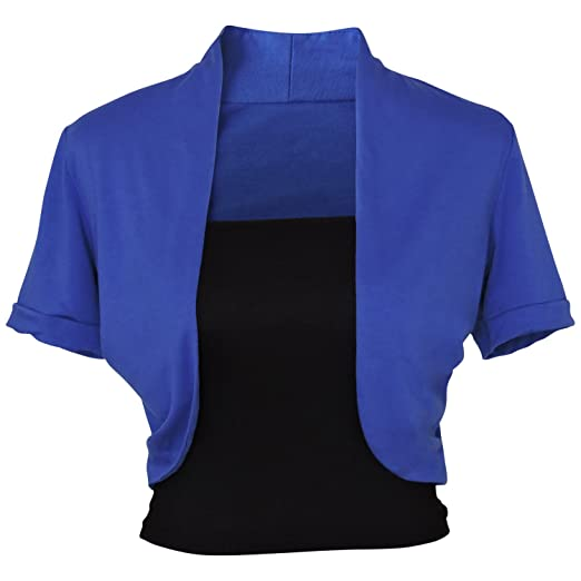 f5d0712066 Image Unavailable. Image not available for. Color  Faship 2 Pieces Stretch  Short Sleeve Bolero Shrug Cardigan Tube Top