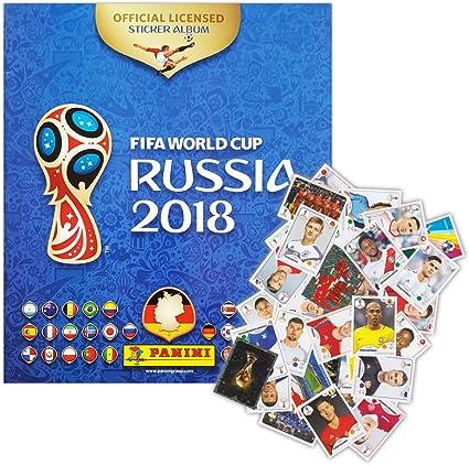 Panini – FIFA World Cup Rusia 2018 – Starter – Álbum + 100 Pegatinas Diferentes – Pegatinas coleccionables (Edición Alemana: Amazon.es: Juguetes y juegos