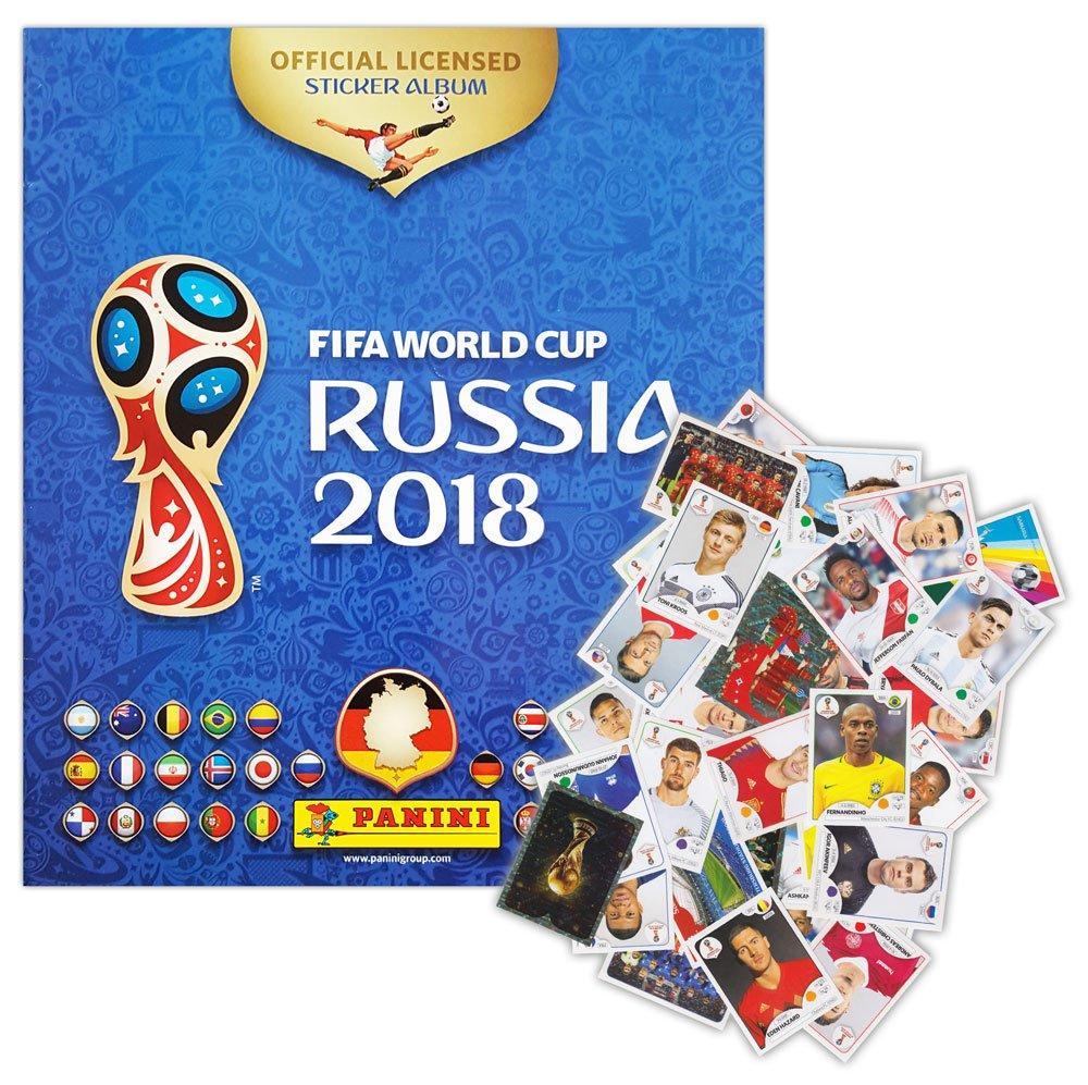 Panini –  FIFA World Cup Rusia 2018 –  Starter –  Á lbum + 100 Pegatinas Diferentes –  Pegatinas coleccionables (Edició n Alemana