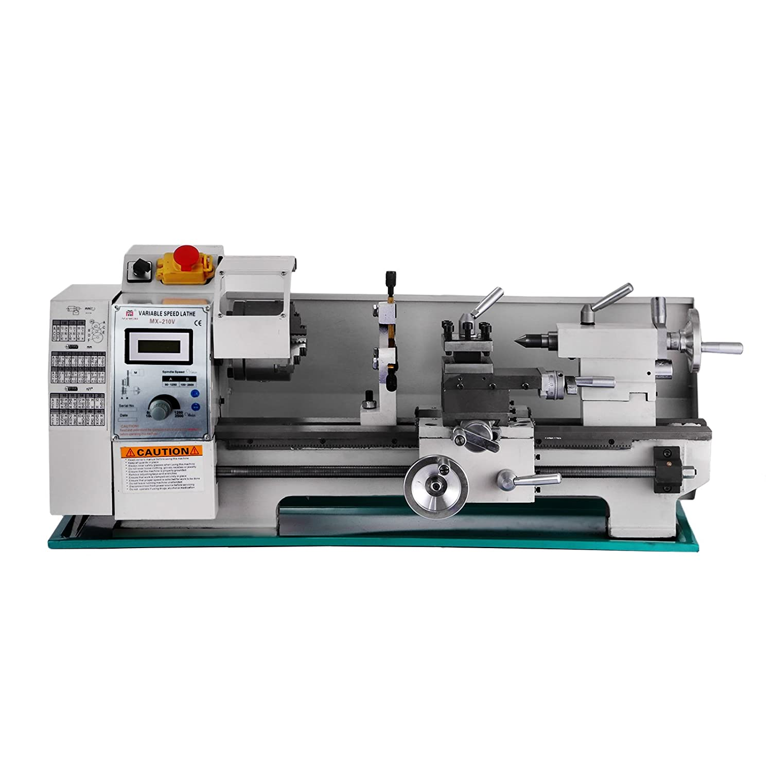 BestEquip 8x16 Inch Metal Lathe 2500RPM 750W Mini Bench Lathe Variable  Spindle Speed Lathe Machine for Mini Precision Parts Processing