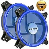 Novonest PWM Ventole ultra silenziose per case 120 mm, con LED Blu, dissipatori di calore e radiatori per CPU 4-Pin,2 Set