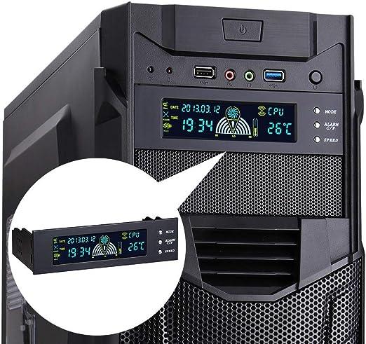 5.25inch PC Ventilador Velocidad Controlador Temperatura Pantalla ...