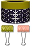 Orla Kiely Linear Stem 12 Count Boxed Designer Binder Clips