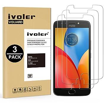 iVoler [3 Unidades] Protector de Pantalla para Motorola Moto E4 Plus, Cristal Vidrio Templado Premium: Amazon.es: Electrónica