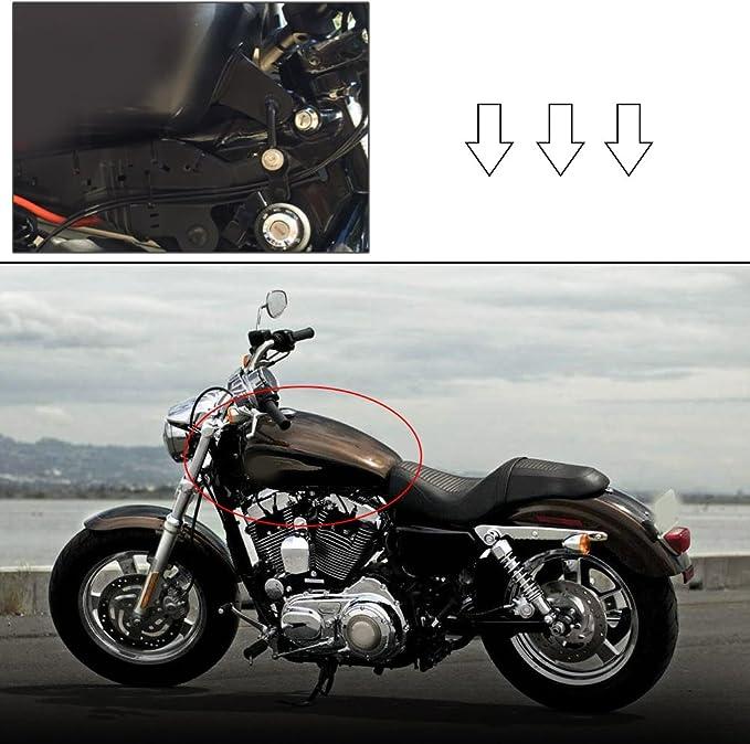 Qiilu Motorrad Gas Tank Lift Kit Für Harley Sportster Xl 883 1200 48 72 1995 Up Auto