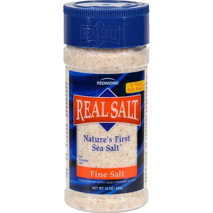 Redmond Real Sea Salt - Natural Unrefined Organic Gluten Free Fine, 4.75 Ounce Shaker (12 Pack)