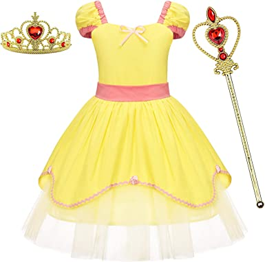 BanKids Princess Dresses Snow White Costumes for Toddler Girls Halloween Chirstmas Party Costume