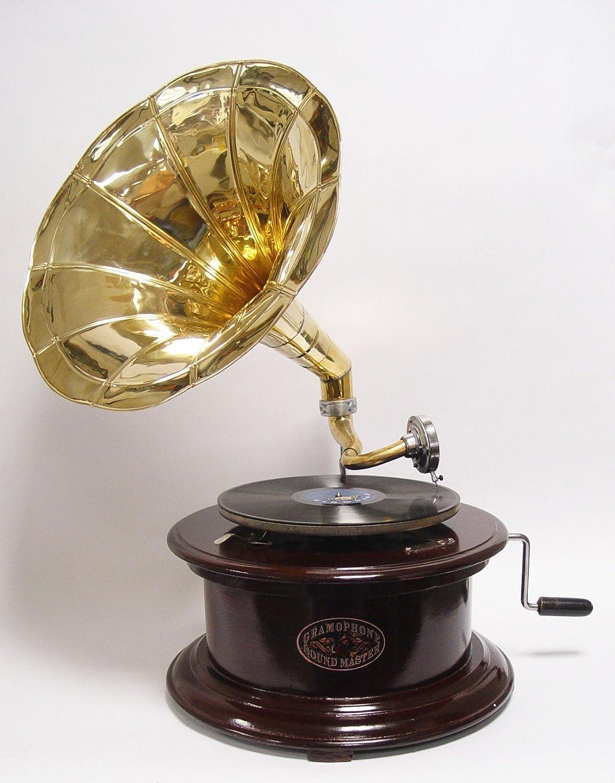 Gramófono Dorado Amplificador redonda dunkelbrauner - Fregadero de ...